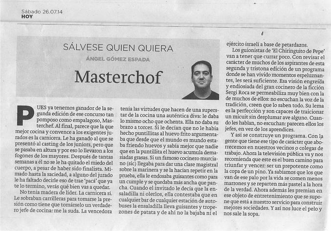MASTERCHOF 001RUA
